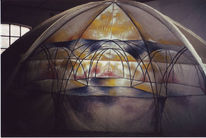 Malerei, Dreidimensional, Kuppel
