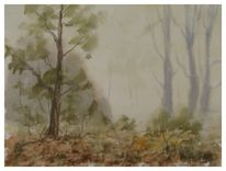 Landschaft, Gemälde, Aquarellmalerei, Landschaftsmalerei
