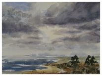 Landschaft, Gemälde, Malerei, Aquarellmalerei