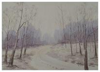 Landschaft, Gemälde, Freiluft, Winterlandschaft