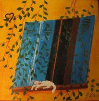 Herz, Katze, Provence, Malerei