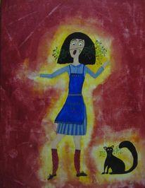 Temperamalerei, Naiv, Malerei