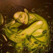 Figural, Blätter, Malerei, Pose