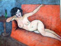 Portrait, Akt, Liebe, Pastellmalerei
