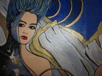 Acrylmalerei, Engel, Malerei, Figural