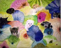 Ölmalerei, Malerei, Katze