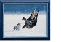 Malerei, Ölmalerei, Fuchs, Adler
