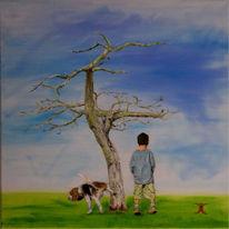 Baum, Ölmalerei, Malerei, Pflanzen