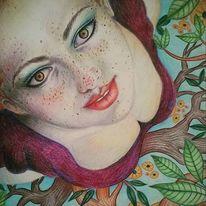 Buntstiftzeichnung, Illustration, Realismus, Kunstwerk