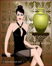 Frau, Mode, Design, Schönheit