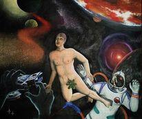 Maschine, Universum, Planet, Malerei