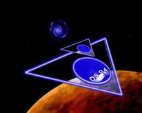Raumschiff, Rakete, Didgital, Stern