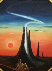 Licht, Turm, Landschaft, Raum