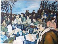 Ölmalerei, Essen, Malerei, Hunger