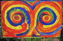 Kreis, Farben, Abstrakt, Malen