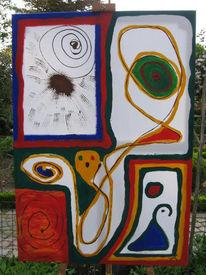 Augen, Farben, Abstrakt, Malerei