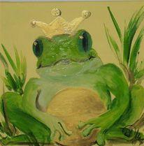 Tiere, Märchen, Frosch, Malerei