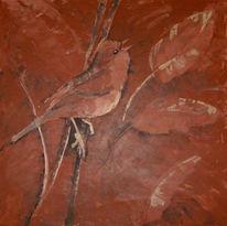 Paarungszeit, Tiere, Malerei, Vogel