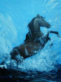 Lebensfreude, Tiere, Malerei