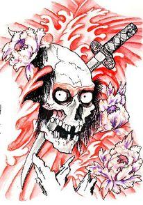 Zeichnungen, Stillleben, Tattoo