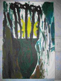 Acrylmalerei, Umwelt, Umweltschutz, Weg