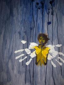 Malerei, Figural, Lernen, Fliegen