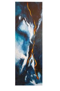 Malerei, Blitz, Energetisch, Lava