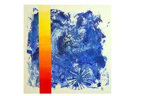 Acrylmalerei, Fabverlauf, Struktur, Blau