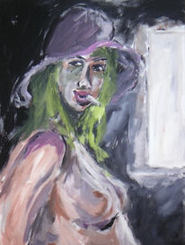 Akt, Frau, Acrylmalerei, Figural