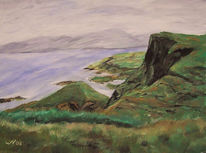 Landschaft, Küste, Meer, Acrylmalerei