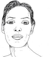 Gesicht, Skizze, Zeichnungen