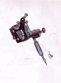Maschine, Aquarellmalerei, Kohlezeichnung, Zeichnungen
