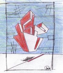 Grafik, Blau, Geometrie, Skizze