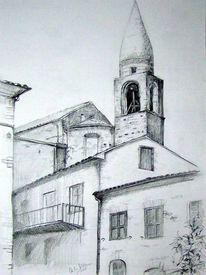 Zeichnungen, Italien, Villa