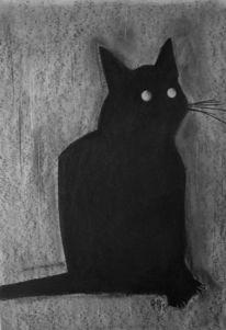 Katze, Tiere, Zeichnung, Zeichnungen
