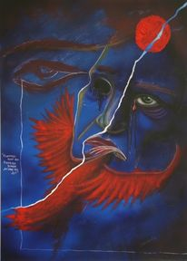 Augen, Einäugig, Phönix, Rot