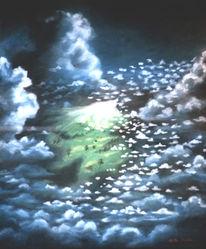 Himmel, Erde, Wolken, Malerei