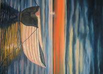 Meer, Himmel, Boot, Wasser