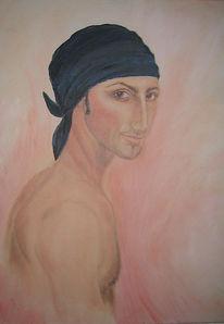 Türkisch, Mann, Exotisch, Malerei