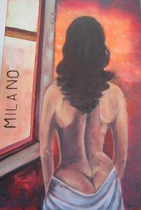 Fenster, Malerei, Stmmung, Frau