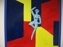 Acrylmalerei, Figural, Malerei, Ballerina
