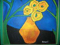 Stillleben, Malerei, Blumenstrauß