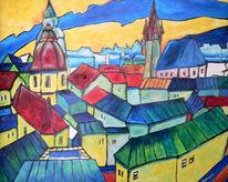 Landschaft, Malerei, Prag