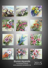 Blumenkalender, Pinnwand, Kalender 2015, 2015
