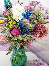 Pfingstrose, Blumen, Strauß, Sommerstrauß