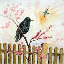 Studie, Pastellmalerei, Frühling, Stern