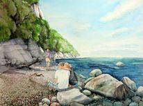 Rügen, Insel, Steilküste, Paar