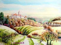 Leuchtenburg, Landschaft, Burg, Herbst