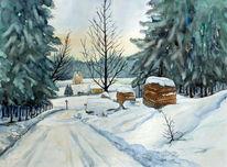 Winterlandschaft, Thüringen, Winter, Allzunah