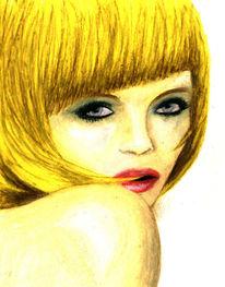 Figural, Blond, Frau, Portrait